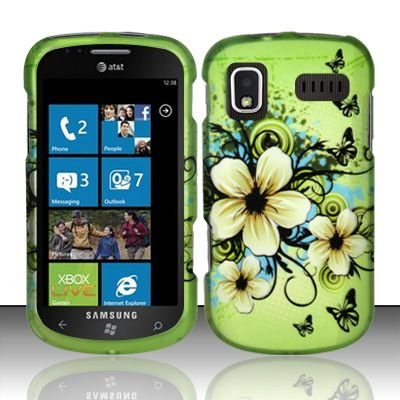 Hard Rubber Feel Design Case for Samsung Focus - Hawaiian Flowers