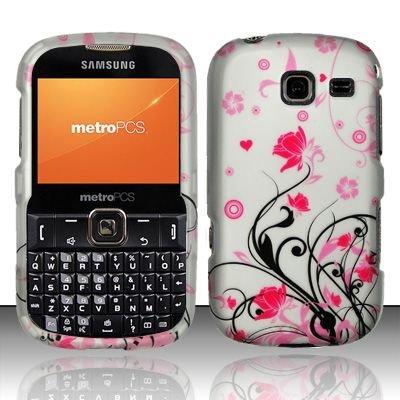 Hard Rubber Feel Design Case for Samsung Freeform 3/Comment - Pink Garden