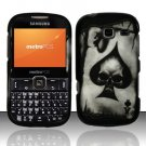 Hard Rubber Feel Design Case for Samsung Freeform 3/Comment - Spade Skull