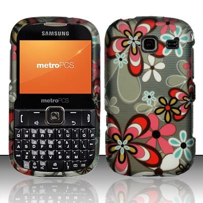 Hard Rubber Feel Design Case for Samsung Freeform 3/Comment - Autumn Flowers