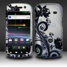 Hard Rubber Feel Design Case for Samsung Nexus S 4G - Black Vines