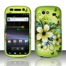 Hard Rubber Feel Design Case for Samsung Nexus S 4G - Hawaiian Flowers