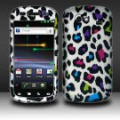 Hard Rubber Feel Design Case for Samsung Nexus S 4G - Colorful Leopard