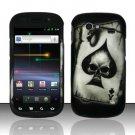 Hard Rubber Feel Design Case for Samsung Nexus S 4G - Spade Skull