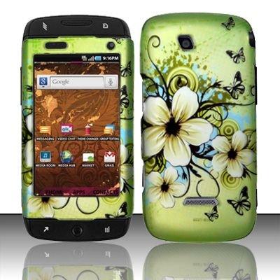 Hard Rubber Feel Design Case for Samsung Sidekick 4G - Hawaiian Flowers