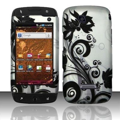 Hard Rubber Feel Design Case for Samsung Sidekick 4G - Black Vines