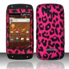 Hard Rubber Feel Design Case for Samsung Sidekick 4G - Pink Leopard