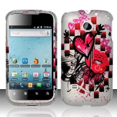 Hard Rubber Feel Design Case for Huawei Ascend II M865 - Arrow Heart