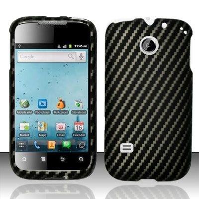 Hard Rubber Feel Design Case for Huawei Ascend II M865 - Carbon Fiber V2