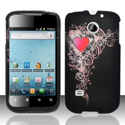 Hard Rubber Feel Design Case for Huawei Ascend II M865 - Royal Heart