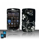 Hard Rubber Feel Design Case for Blackberry Torch 9800 - Midnight Garden