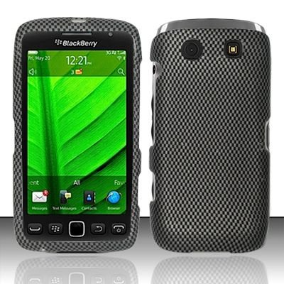 Hard Rubber Feel Design Case for Blackberry Torch 9850/9860 - Carbon Fiber