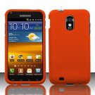 Hard Rubber Feel Plastic Case for Samsung Epic Touch 4G/Galaxy S2 - Orange