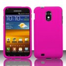 Hard Rubber Feel Plastic Case for Samsung Epic Touch 4G/Galaxy S2 - Pink