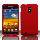 Hard Rubber Feel Plastic Case for Samsung Epic Touch 4G/Galaxy S2 - Red
