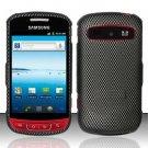 Hard Rubber Feel Design Case for Samsung Admire R720 - Carbon Fiber
