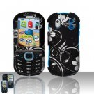Hard Rubber Feel Design Case for Samsung Intensity 2 - Midnight Garden