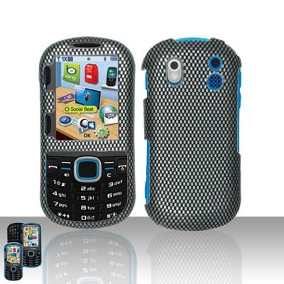 Hard Rubber Feel Design Case for Samsung Intensity 2 - Carbon Fiber