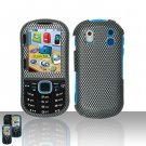 Hard Rubber Feel Design Case for Samsung Intensity 2 - Carbon Fiber