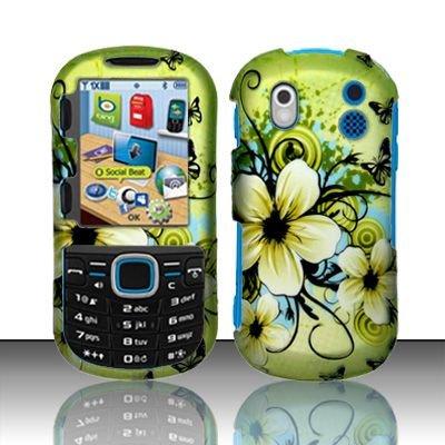 Hard Rubber Feel Design Case for Samsung Intensity 2 - Hawaiian Flowers