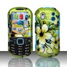 Hard Rubber Feel Design Case for Samsung Intensity 2 - Hawaiian Flowers