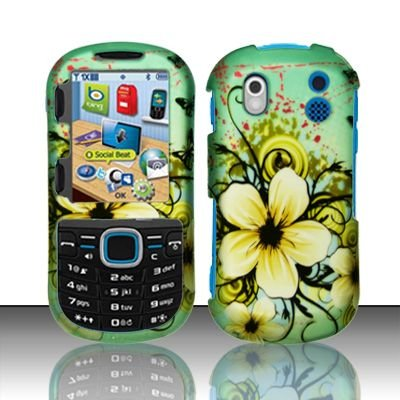 Hard Rubber Feel Design Case for Samsung Intensity 2 - Natural Flowers