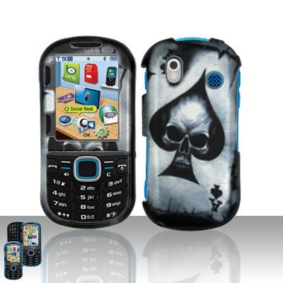 Hard Rubber Feel Design Case for Samsung Intensity 2 - Spade Skull