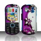 Hard Rubber Feel Design Case for Samsung Intensity 2 - Purple Vines