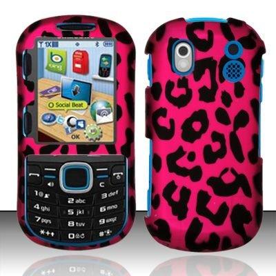 Hard Rubber Feel Design Case for Samsung Intensity 2 - Pink Leopard
