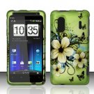 Hard Rubber Feel Design Case for HTC EVO Design 4G - Hawaiian Flowers