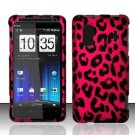 Hard Rubber Feel Design Case for HTC EVO Design 4G - Pink Leopard