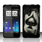 Hard Rubber Feel Design Case for HTC EVO Design 4G - Spade Skull