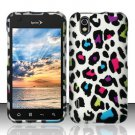 Hard Rubber Feel Design Case for LG Marquee LS855/Optimus Black (Sprint/Boost) - Colorful Leopard