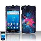 Hard Rubber Feel Design Case for Samsung Captivate i897 (AT&T) i897 (AT&T) - Blue Stars