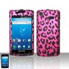 Hard Rubber Feel Design Case for Samsung Captivate i897 (AT&T) i897 (AT&T) - Pink Leopard