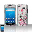 Hard Rubber Feel Design Case for Samsung Captivate i897 (AT&T) i897 (AT&T) - Pink Garden