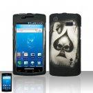 Hard Rubber Feel Design Case for Samsung Captivate i897 (AT&T) i897 (AT&T) - Spade Skull