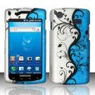 Hard Rubber Feel Design Case for Samsung Captivate i897 (AT&T) i897 (AT&T) - Blue Vines
