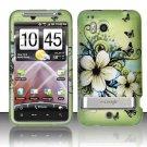 Hard Rubber Feel Design Case for HTC ThunderBolt 4G (Verizon) - Hawaiian Flowers