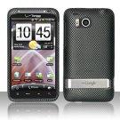 Hard Rubber Feel Design Case for HTC ThunderBolt 4G (Verizon) - Carbon Fiber