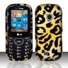 Hard Rubber Feel Design Case for LG Cosmos 2 VN251 (Verizon) - Cheetah