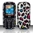 Hard Rubber Feel Design Case for LG Cosmos 2 VN251 (Verizon) - Colorful Leopard