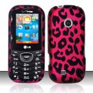 Hard Rubber Feel Design Case for LG Cosmos 2 VN251 (Verizon) - Pink Leopard