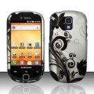 Hard Rubber Feel Design Case for Samsung Gravity Smart T589 - Black Vines