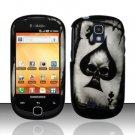 Hard Rubber Feel Design Case for Samsung Gravity Smart T589 - Spade Skull