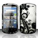 Hard Rubber Feel Design Case for Huawei Impulse 4G (T-Mobile) - Black Vines