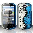 Hard Rubber Feel Design Case for Huawei Impulse 4G (T-Mobile) - Blue Vines