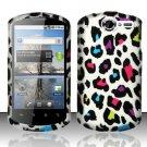 Hard Rubber Feel Design Case for Huawei Impulse 4G (T-Mobile) - Colorful Leopard
