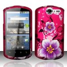 Hard Rubber Feel Design Case for Huawei Impulse 4G (T-Mobile) - Hibiscus Flowers