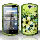 Hard Rubber Feel Design Case for Huawei Impulse 4G (T-Mobile) - Hawaiian Flowers